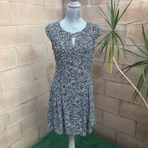 Express Cap Sleeve Printed Dress EUC